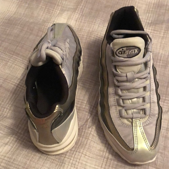 Nike Shoes | Air Max Metallic Gold And